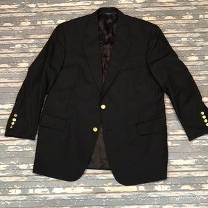 🔥 Brooks Brothers men's 45R Gold button blazer